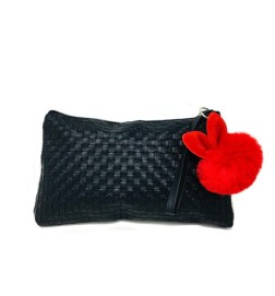 Orofluido Bag Pochette Nera in Ecopelle