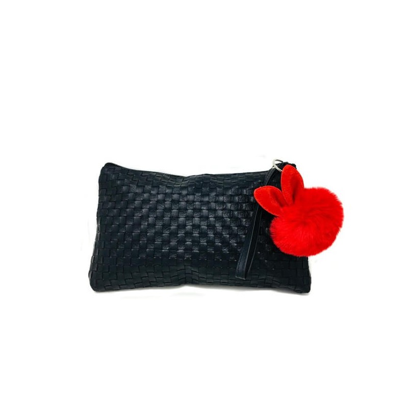 Orofluido Bag Pochette Nera in Ecopelle