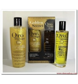 FANOLA ORO THERAPY GOLDEN SECRET ORO PURO FLUIDO ILLUMINANTE + BODY SHAMPOO CON OLIO D'ARGAN 100 ml+ 250ml